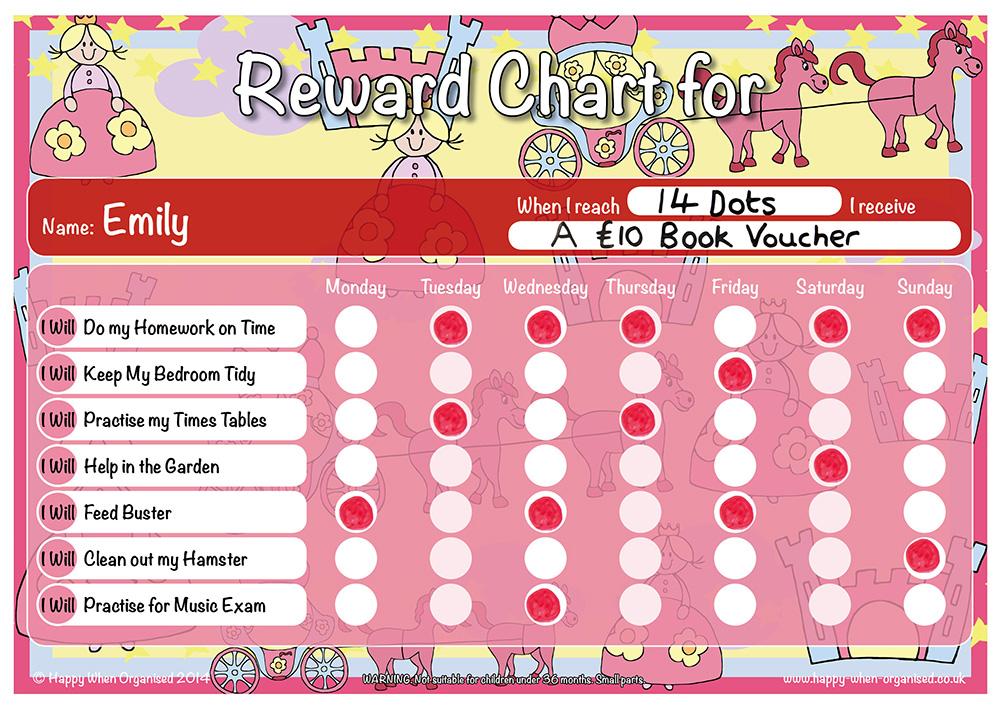 children rewards chart