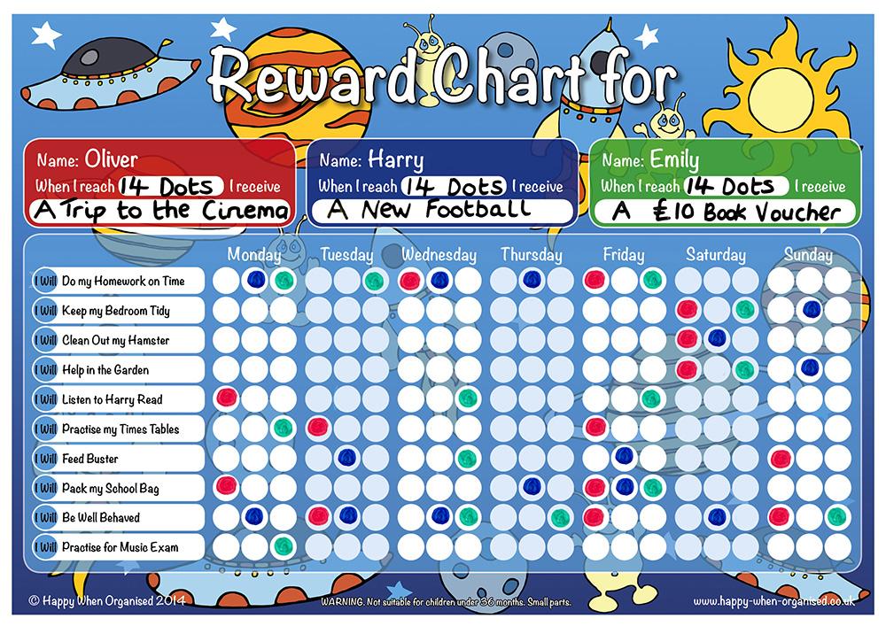 reward charts for boys