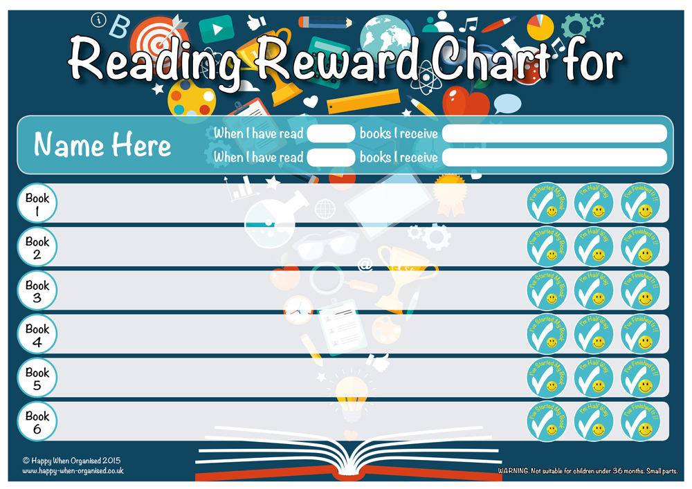 A4-Reading-Reward-Chart-Older-blue Safety Book Order Form on free sample, template.doc, amazing facts free, vintage school,