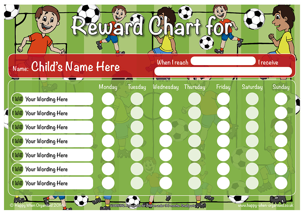 A4 Boy Girl Reward Responsibility Chart Dry Wipe Magnetic