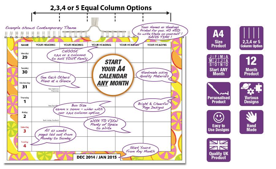 Family Calendar 2015 : Column calendar search results